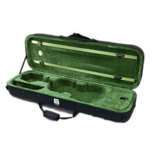 SKY 3/4 Premium Oblong Lightweight Violin Case with Hygrometer Black/Green