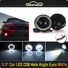 "2X2.5"" 64mm Car SUV White LED COB Halo Angel Eye Rings Fog Light Projector Lamps"