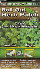 Roll Out Herb Patch Sweet Basil & Oregano Water & Grow As Seen On TV New [DW]