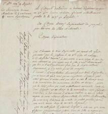 Conventionnel François RIVAUD & général DUFOUR autographe 1795