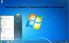 Microsoft Windows 7 Professional 32Bit Retail License.