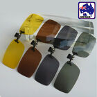 Clip on Flip up Sunglasses UV400 Night Vision Yellow Polarized Glasses JGLAS07