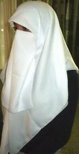 New Niqaab Scarf Veil Khimar Hijab Islam Niqab - Off White Color