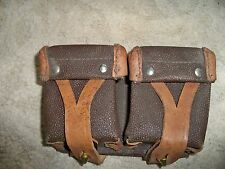 Vintage Leather Russian Mosin Nagant Ammo Pouch Brown Tan Color