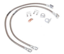 Rough Country Jeep Stainless Steel Front Brake Lines YJ TJ XJ ZJ