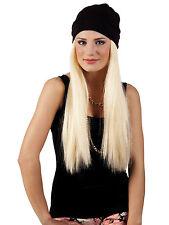 Perücke Britney Blond mit Mütze Party Kostüm Accessoires