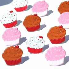 CUPCAKES Brads Package of 12 Eyelet Outlet Food Baking Cake Frosting Cooking