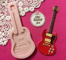 Big Guitar silicone mold fondant cake decorating food soap cupcake topper FDA