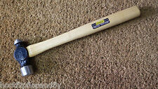 VINTAGE NOS STANLEY 5309K 3/4lb BALL PEIN ENGINEERS HAMMER HICKORY WOOD SHAFT