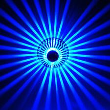 Applique moderno lampada led 2w luce blu arredamento casa bar pub disco 220v