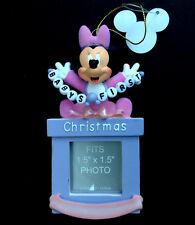 DISNEY PARKS Ornament BABY'S FIRST CHRISTMAS MINNIE MOUSE Girl Photo Frame NWT