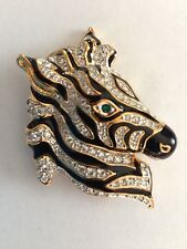 Swarovski Zebra Pin Brooch Signed - New