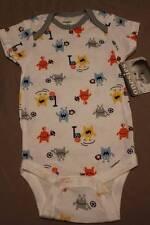 NEW Baby Boys Bodysuit 6 - 9 Month Onesie Creeper Monster Soccer Football Gerber