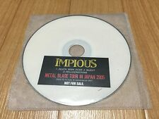 Rare! IMPIOUS METAL BLADE TOUR IN JAPAN 2005 Not For Sale LIVE DVD Music & Live