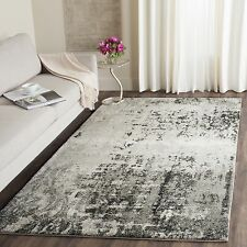 Safavieh Retro Modern Abstract Light Grey/ Grey Rug (5' x 8')