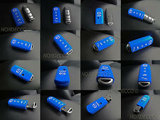 HIGH QUALITY SILICONE WIRELESS SMART 4 KEY FOB PROTECTOR CASE MAZDA 6 7 (BLUE)