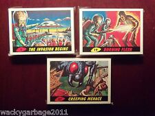 2012 Topps Heritage MARS ATTACKS! Complete 55 Card Base Set With Merch Brochure!