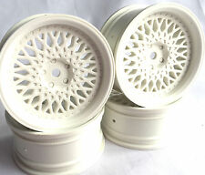 Rc Car 1/10 Drift FM Spoke Rim Wheel 6mm Offset fit Tamiya HPI 12mm hex WHITE 4