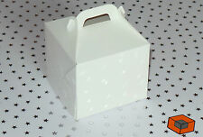 50 Single White CUPCAKE  - mini muffin favour boxes  80 x 80 x 80mm with inserts