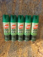 5 Pack Off! Deep Woods Insect Repellent DRY Aerosol Spray 4oz Each