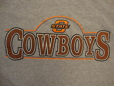 NCAA Oklahoma State Cowboys College School University Fan Gray T Shirt L