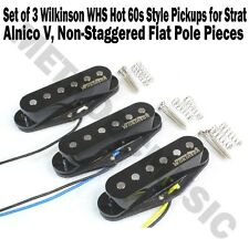 Set of 3 Wilkinson WHS HOT 60s Alnico V Single Coil Guitar Pickups Stratocaster