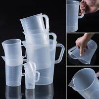4 Größen Messbecher Transparent Kunststoff Messkanne für Küche Labor 250ML~2L NL