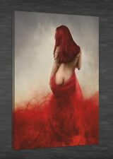 art painting Giclee printed on canvas WOMEN IN RED SEXY EROTIC NUDE unframed