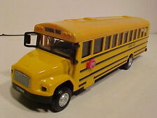 School Bus Long Nose Die-cast 1:44 Kinsfun 8 inch Yellow Lights and Sounds