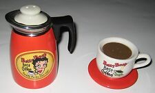BETTY BOOP SALT & PEPPER SHAKERS  COFFE POT & COFFEE CUP