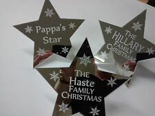 CHRISTMAS TREE STAR PERSONALISED STAR FOR THE TOP OF YOUR CHRISTMAS TREE