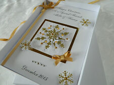 Handmade Personalised Christmas Card 3D Gift Box