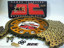 KAWASAKI ZX-10R '04-05 SUPERSPROX / Z1R GOLD QUICK ACCEL CHAIN AND SPROCKETS KIT