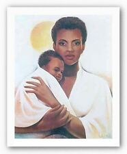 AFRICAN AMERICAN ART PRINT Mother and Child Keith Mallett