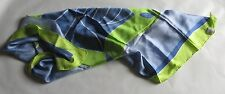 "Foulard pure soie vert et bleu – "" Neblina "" made in China"