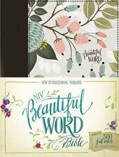 NIV, Beautiful Word Bible, Cloth over Board, Multi-color Floral: 500 Full-Color
