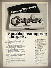 Group Therapy & Couples Game PRINT AD - 1971 ~ Park Plastics Games