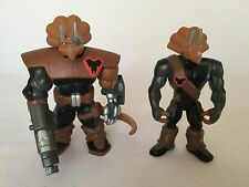 Playmates TMNT Commander Mozar & Triceraton Warrior Action Figure Bundle 2004