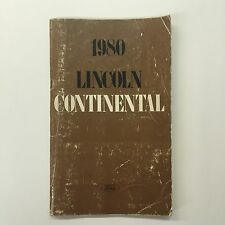 1980 Lincoln Continental Owners Manual