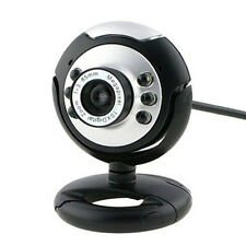 Black USB 6 LED Camera Webcam plus Night Vision MSN, ICQ  For PC Laptop Computer