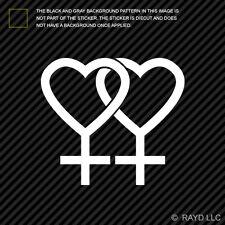 (2x) Gay Pride Lesbian Symbol Sticker Die Cut Decal Self Adhesive Vinyl #2