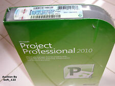 Microsoft Project 2010 Professional For 2 PCs Full Version MS Pro=BRAND NEW BOX=