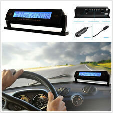 12V/24V Digital Car Thermometer Voltage Meter Monitor Alarm Clock Backlight LCD