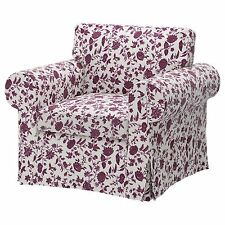 IKEA EKTORP COVER for arm chair HOVBY LILAC Floral SLIPCOVER ONLY 602.146.06