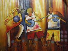 African musician large oil painting canvas modern abstract original music art