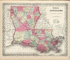 221 maps LOUISIANA state PANORAMIC old genealogy HISTORY teaching atlas DVD