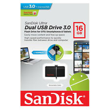 SanDisk Ultra 16GB OTG Dual USB 3.0 Pen Drive for Mobile & PC Speed upto 130MB/s