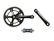 Sugino RD Messenger Crankset w/ Bottom Bracket Black 165mm 48T 1/8