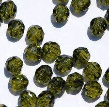 8mm Olive Faceted Acrylic Beads 500 piece bag