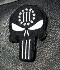 PUNISHER SKULL 3 Percenter EMBROIDERED MILITARY 3.5 INCH HOOK PATCH